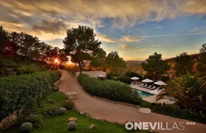 Mooi uitzicht op Ibiza