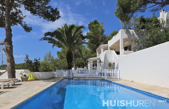 Zwembad luxe met palmboom