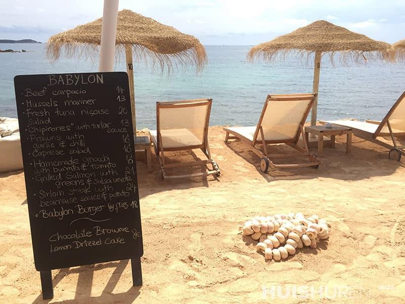 Babylon Beach Restaurant Ibiza Santa Eularia